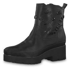 TAMARIS Damen Stiefel schwarz mit Steinchen