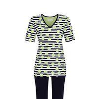 Limetten-Print Pyjama mit Caprihose
