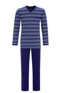 Gestreifter Herren-Pyjama mit V-Ausschnitt