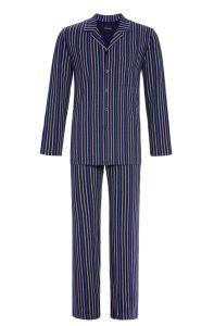Gestreifter Pyjama mit durchgehender Knopfleiste