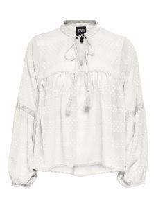 Damen Bluse mit Kordelverschluss