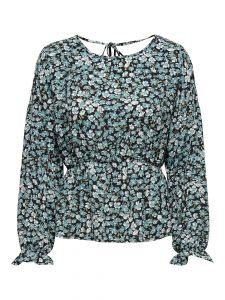 Damen Bluse mit gerüschten Bündchen
