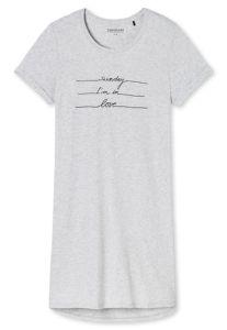 Damensleepshirt KURZ grau-meliert