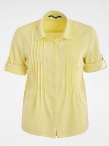 Gelbe 1/2 Arm Damen Bluse