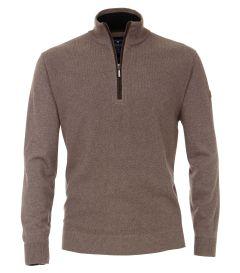 REDMOND Herren Pullover mit Zipkragen