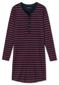 Damen Nachthemd im Ringel-Dessin